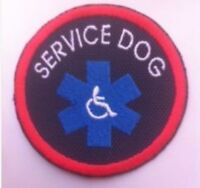 Blue Embroidered Sew-on Patch - Service Dog Blue Star Disabled Disability Emblem