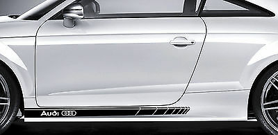 Audi Premium Side Stripes Decals Stickers TT RS A3 A4 S3 S4 S6 S8 A6 Quattro 01