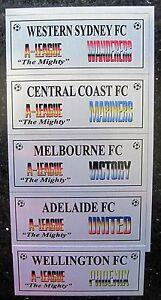 Soccer A-League Teams-1  2013 SILVER Sublimated Plaque free postage