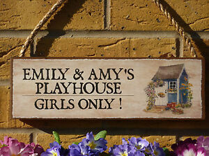 PERSONALISED-PLAY-HOUSE-SIGN-PLAY-DEN-SIGN-KIDS-GARDEN-SIGN-WENDY-HOUSE-PLAQUE