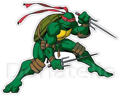 Choose Size RAPHAEL Ninja Turtles Decal Removable WALL STICKER Art Decor TMNT