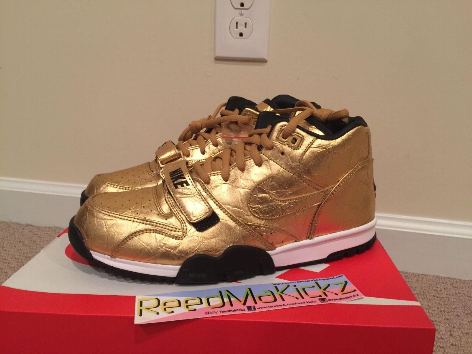 Nike Air Trainer 1 PRM QS Super bowl 50 Metallic Gold Mens sizes