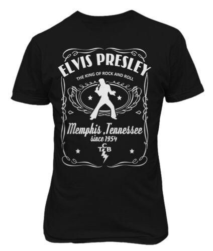 Elvis Presley Memphis Tennessee Label Men T Shirt