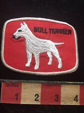 Vtg Souvenir BULL TERRIER DOG Patch ~ Animal Pet Lover Collectible 73X7