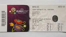 Eintrittskarte UEFA Euro 2012 Tschechien - Portugal Match 25 in Warschau