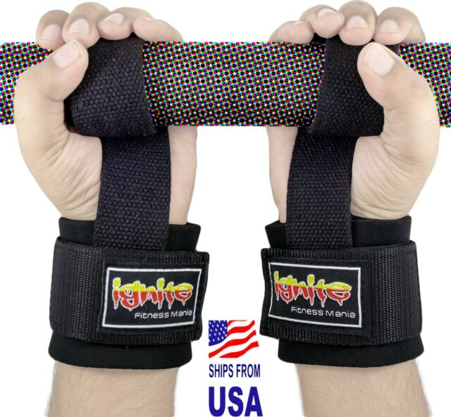 Exercise & Fitness Sold AS Pair RDX Weight Lifting Strap Gym Bodybuilding Straps Wrist Wraps Hand Bar Training Workout Straps