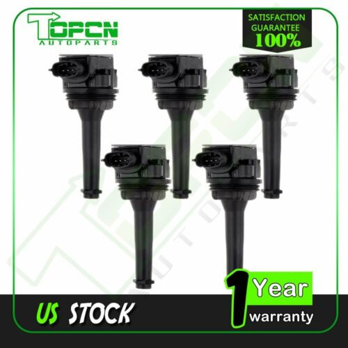For Volvo C70 S60 S70 S80 V70 XC70 XC90 New Ignition Coils UF341 C1258 Set of 5