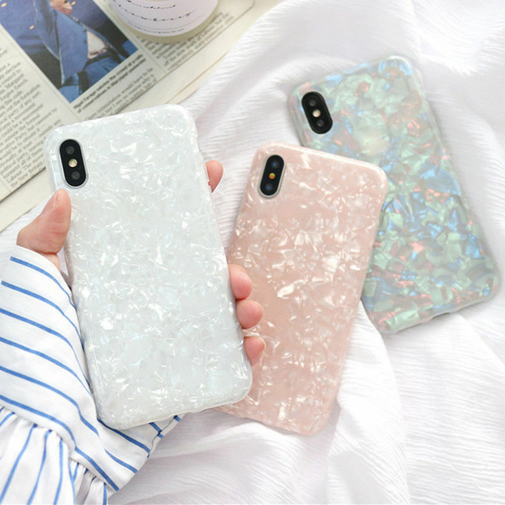 Elegant Pastel Marble Pattern Cover Case Shockproof Soft For iPhone X 8 6 7 Plus