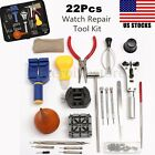 22 piece Watch Repair Tool Kit:Case Battery Opener Link Remover Wrench Holder