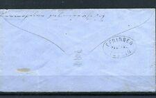 Postablage EFRINGEN/IDSTEIN klar rs.auf blauem Brief DR 3 Kr.rot.Mi# 9