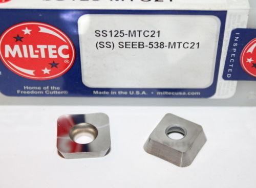 SEEB 538 MTC21 SS125 MILL-TEC INSERT