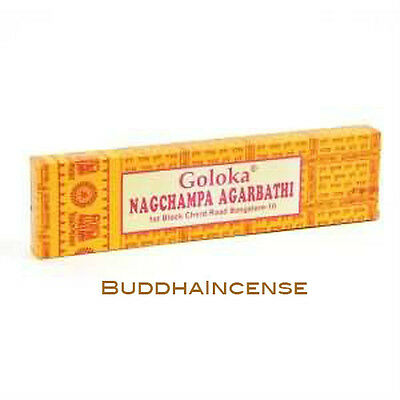 Seven 16g cases of Goloka Nagchampa Incense