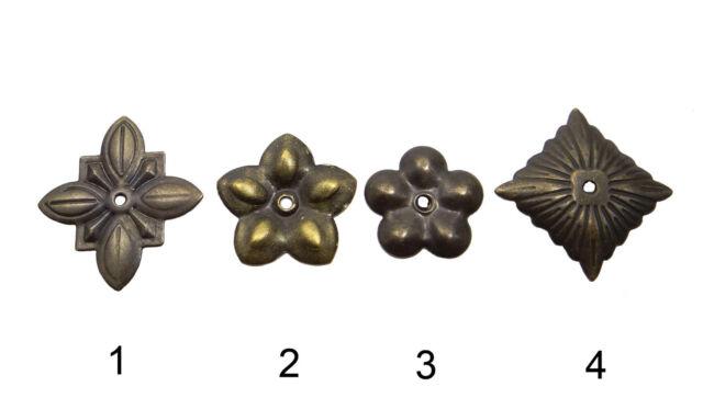 Rosetten 10 Stk. Möbelbeschlag Antikbeschlag Beschlag Antik Zierteile K-244-47