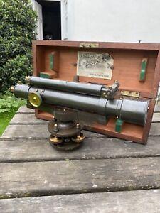 T-B-Winter-amp-Son-Theodolite-In-Original-Box-Victorian-VGC