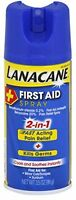 2 Pack Lanacane First Aid Spray 2-in-1 Fast Acting Pain Relief 3.5oz Each on sale