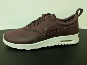 new york 42c9a 7b379 Image is loading Nike-Air-Max-Thea-Premium-MAHOGANY-Team-Red-