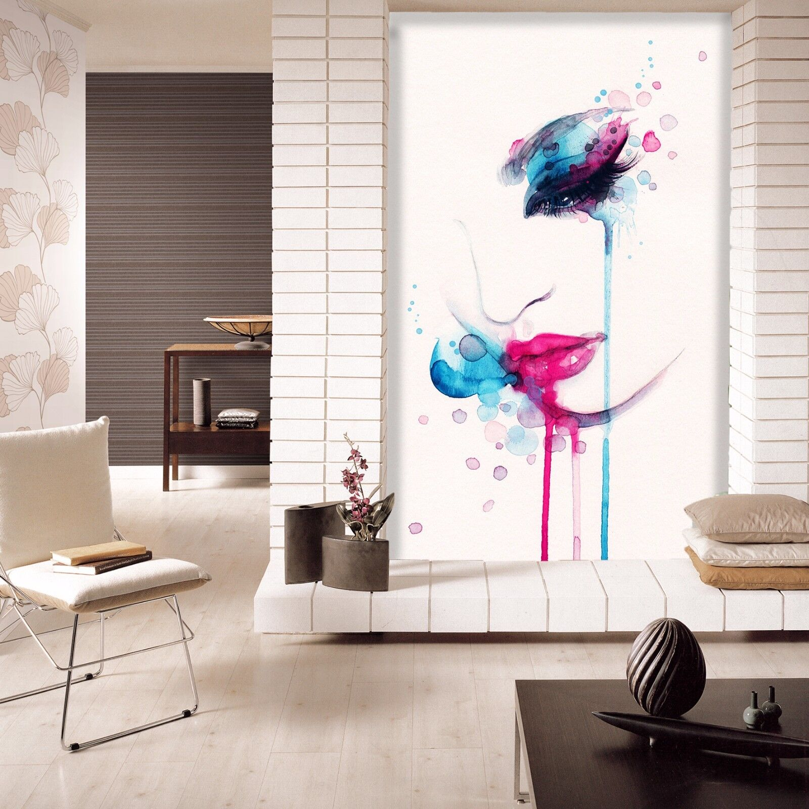 3D Graffiti Makeup Woman 091 Paper Wall Print Wall Decal Wall Deco Indoor Murals