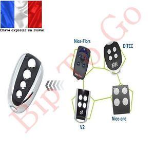Télécommande rolling code pour Ditec, Nice Flor-s, Nice one, V2- envoi express