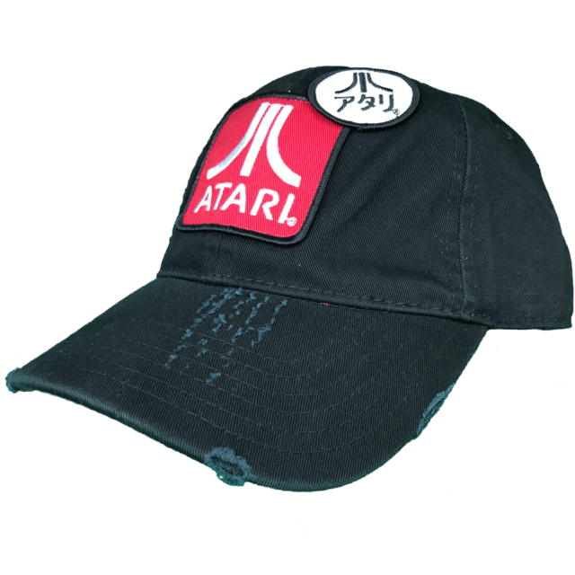 cheap for discount d703e ed397 Atari Retro Kanji Logo Lo Profile Strapback Dad Hat for sale online   eBay