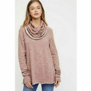 Free-People-Beach-Cocoon-Cowl-Neck-Pink-Sweater-Women-039-s-One-Size-S-L
