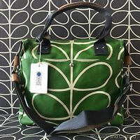 Genuine Orla Kiely Giant Linear Stem Messenger Bag With Tags