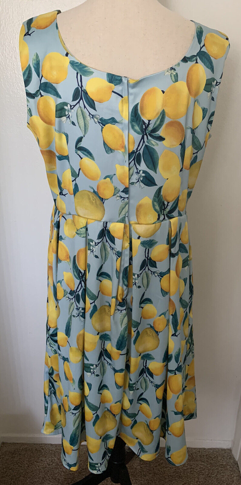 Dolly and Dotty Vintage Inspired Lemon Print Dres… - image 3