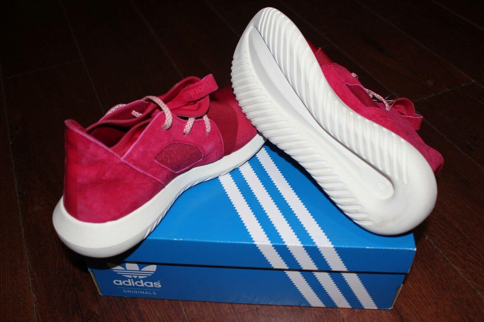 Adidas Tubular Defiant Pink White White White S75902 Women's SZ 8.0 04ed8e