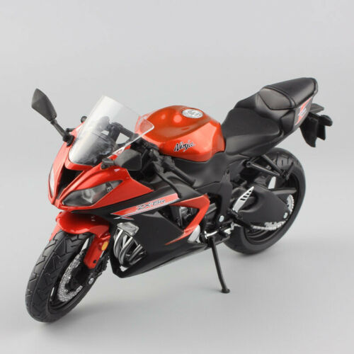 1//12 Scale kids Kawasaki Ninja ZX-6R ZX6R bike race Motorcycle diecast toy model