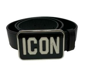NEW, DSQUARED2 ICON BUCKLE BELT, S, $545