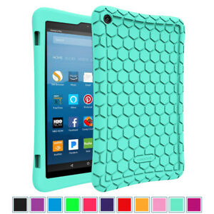 For All New Amazon Fire HD 8-inch 8th Generation 2018 Tablet Silicone Case Cover