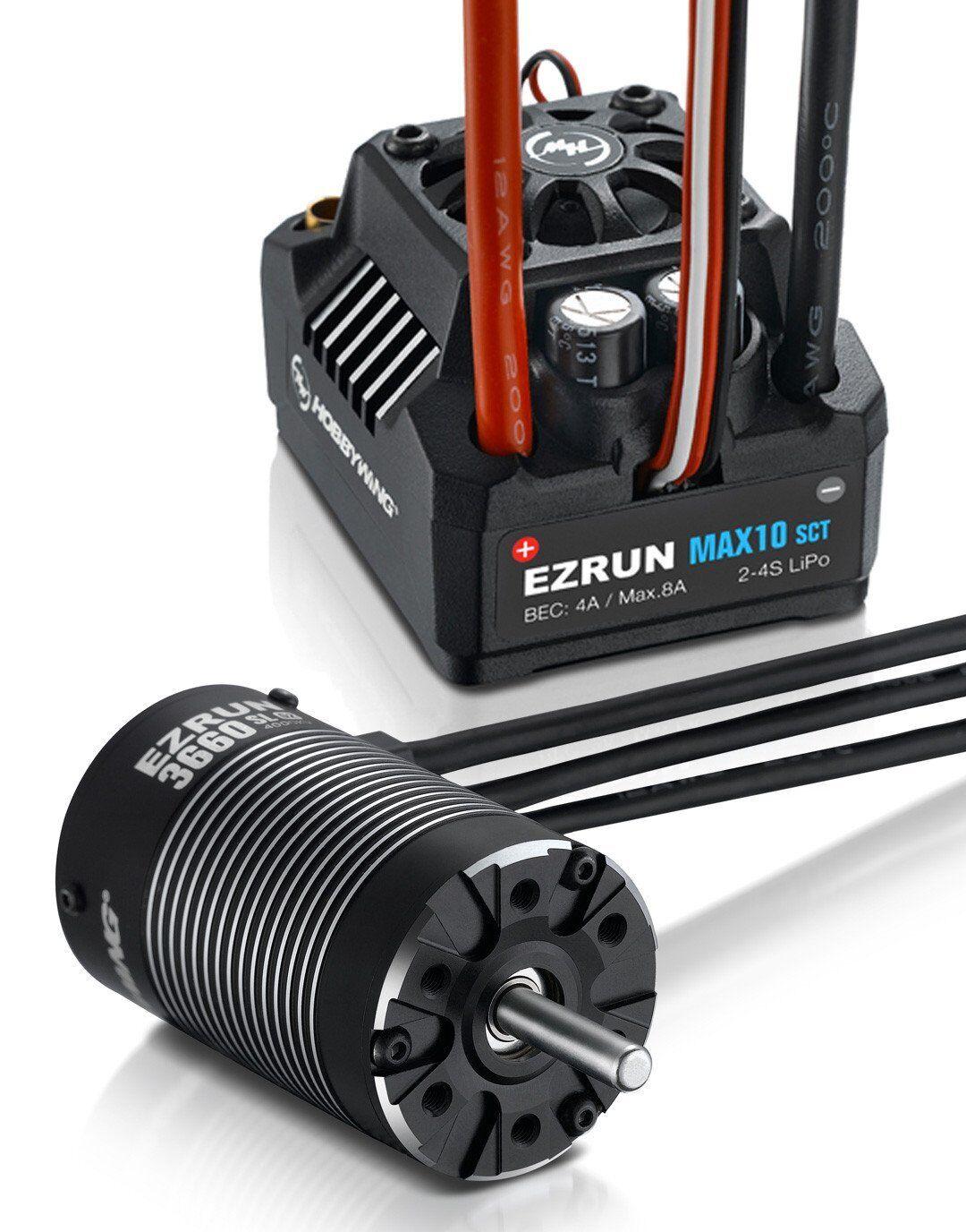 Hobbywing EZRUN MAX10-SCT 120 A ESC +3660 SL G2 MOTORE BRUSHLESS 4000 kV 1/10 auto