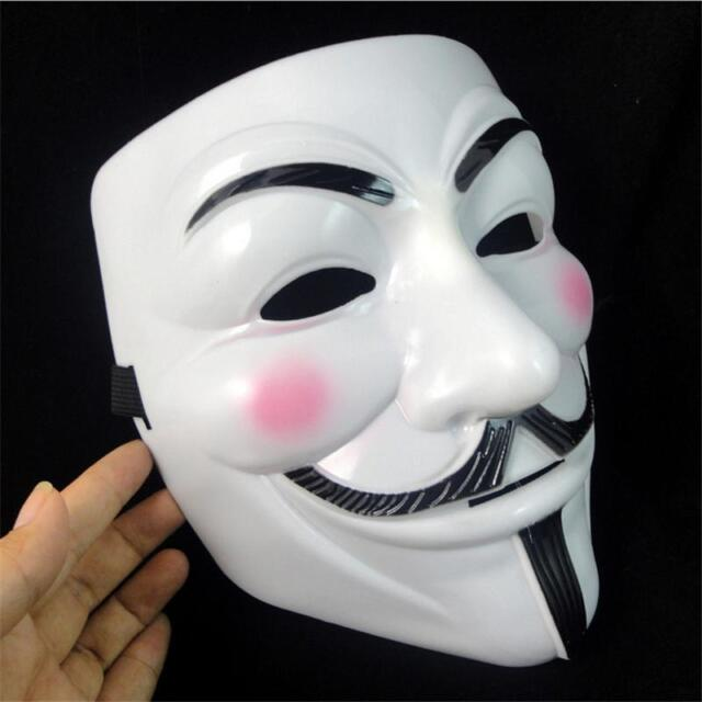 Sales V For Vendetta Mask Guy Fawkes Anonymous Halloween Masks Fancy RG