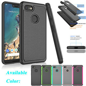 reputable site 33255 f0fa0 Details about For Google Pixel 3 / Pixel 3 XL Shockproof Hybrid Rugged  Rubber Hard Case Cover