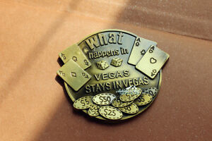 Poker and Chip Las Vegas Tourist Travel Gift Souvenir 3D Metall Fridge Magnet