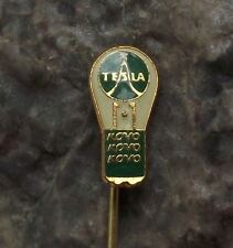 Antique Tesla Electronics Kovo Lamp Small Light Bulb Czechoslovakia Pin Badge