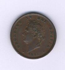G.B./U.K./ENGLAND GEORGE IV  1826  1  PENNY COPPER  COIN, XF!