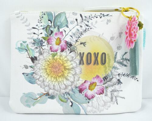 Papaya Art Sunrise Petals XOXO Floral Design Oil Cloth Clutch Bag Travel Bag