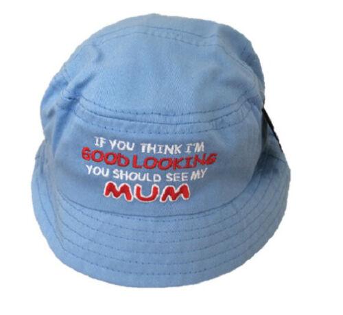 Baby toddler mignon maman//papa bush chapeau soleil d/'été enfants filles garçons 6-12 mois