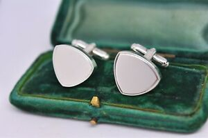 Vintage-Sterling-Silver-cufflinks-with-an-Art-deco-engravable-design-G332