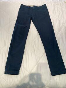 J Crew Para Hombre Pantalones Tipo Chino Rota En 484 Ajuste Chinos 31 X 32 Azul Marino Para Hombre Ebay