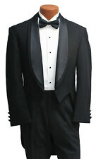 WHITE TIE BLACK TAILS EVENING TAILCOAT MENS BLACK DRESS MANSION HOUSE ORCHESTRA