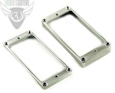 NEW! Metal Flat Bottom Humbucker Rings - US Spec - Bridge & Neck - Chrome