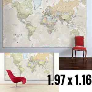 Huge Classic World Map For Kids Big Giant Wall Print Large - Huge classic world map