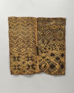 Kuba-Cloth-African-Natural-Woven-Raffia-Zaire-Fabric-Kuba-Cloth