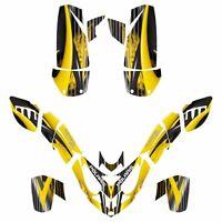 Polaris Predator 500 Graphics Sticker Kit No3333 Yellow Free Custom Service
