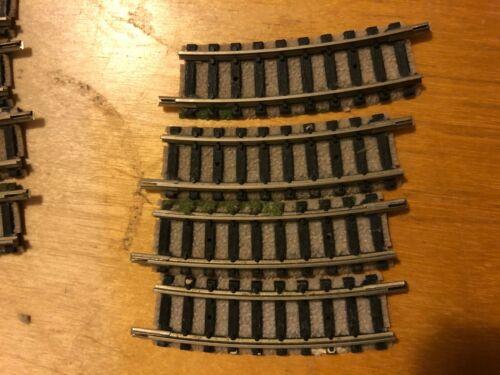N gauge  4 x 9122 Fleischmann curved track 15 degree R1 setrack VGC