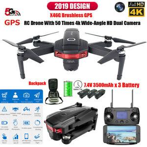 X46G-5G-Wi-fi-FPV-GPS-con-Camara-4K-HD-sin-escobillas-Drone-quadricoptero-RC-Plegable