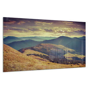 Fringant Verre Trempé Impression Photo Wall Art Photo Montagnes Automne Vue Prizma Gwa0334-afficher Le Titre D'origine