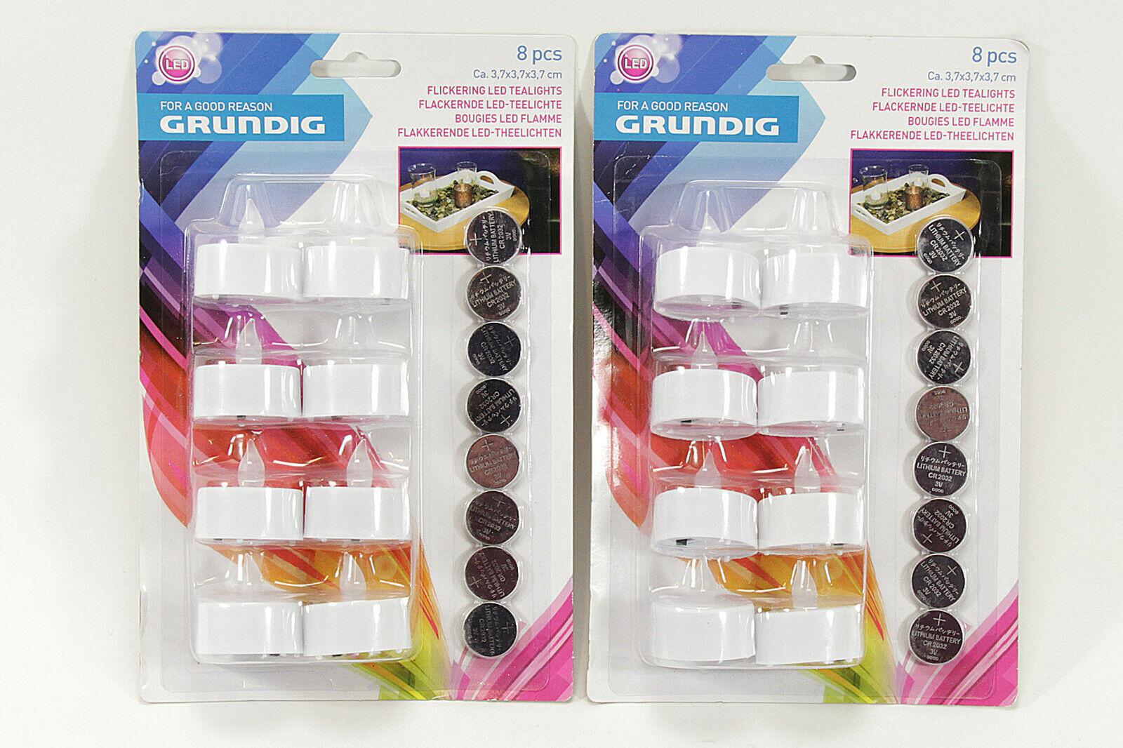 * * * 16x llamaradas LED-lamparillas Grundig mercancía vela decorativas velas set