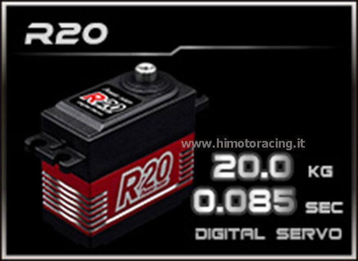 SERVO COMANDO DIGITALE 20 Kg R20 ALTO VOLTAGGIO POWER HD INGRANAGGI IN TITANIO